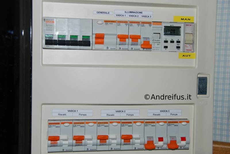 Quadro servizi elettrici - particolare